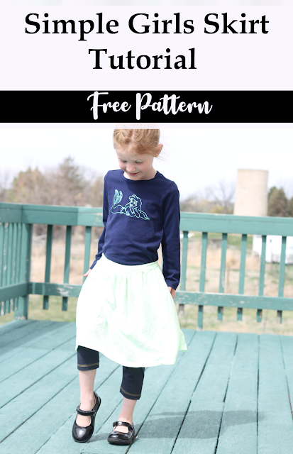 Girls Simple Skirt Free Tutorial