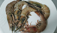 Fresh pieces of prawns (shrimps) for Tandoori prawns Recipe
