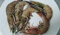 Fresh pieces of prawns (shrimps) for Tandoori prawns Recipe