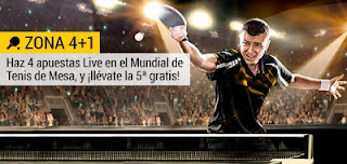 bwin Llévate una apuesta gratis solo por jugar Tenis de Mesa