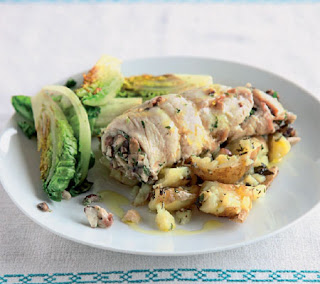 nutty stuffed plaice parcels recipe