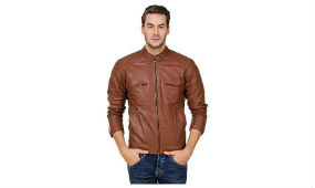 Zacharias Men Faux Leather Jacket For Rs 799 (Mrp 3999) Amazon rainingdeal