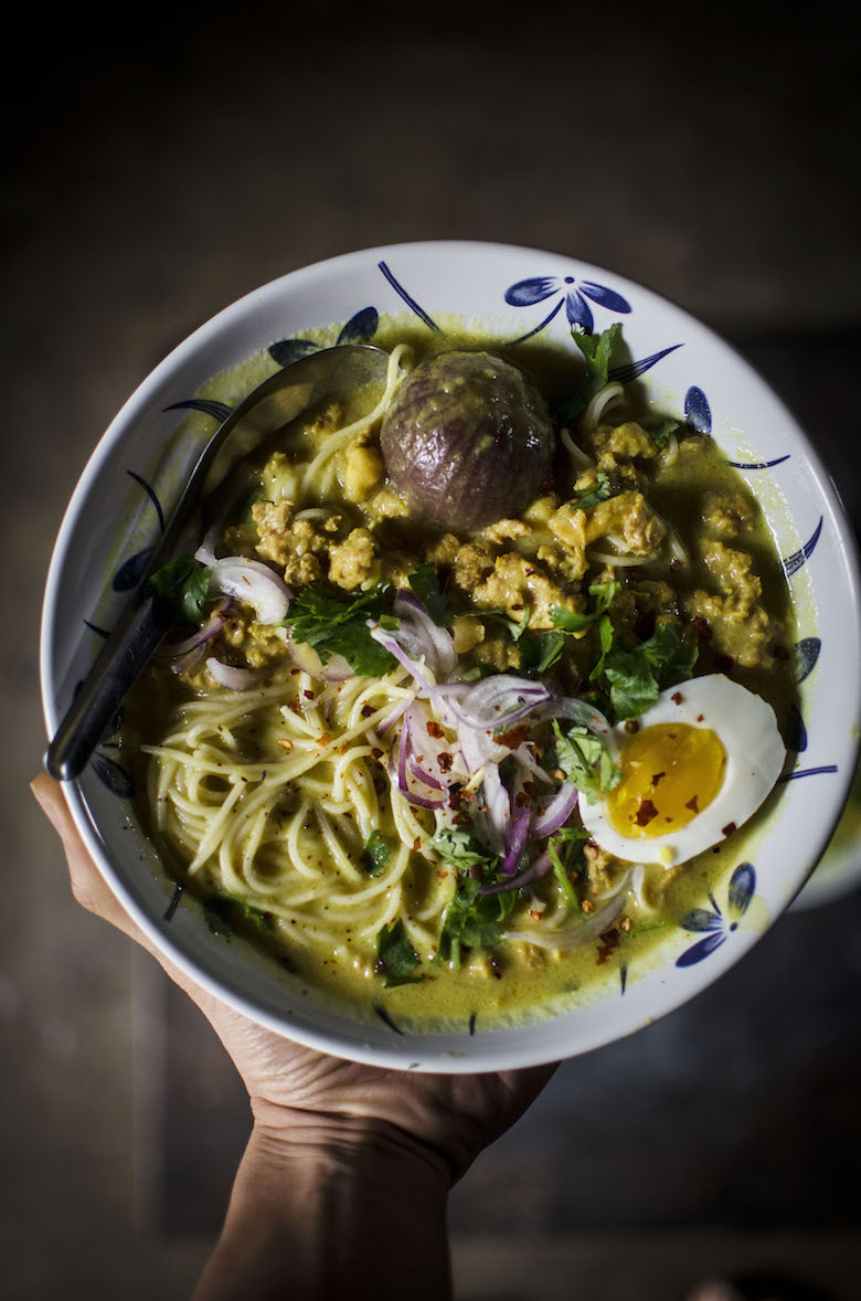 Lime and Cilantro: Noodle in Burmese coconut and chickpea broth (Oh ...