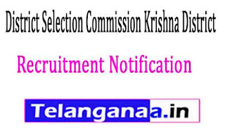 District Selection Commission Krishna DistrictGovernment of Andhra Pradesh Recruitment Notification 2017