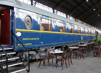 Trenes antiguos. Tren restaurante. Museo del Ferrocarril de Madrid