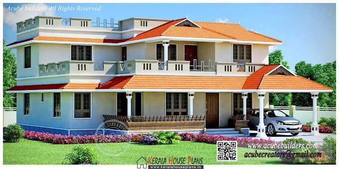 Kerala traditional home 3455 sqft