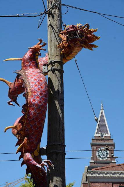 Chinatown Seattle pink dragon