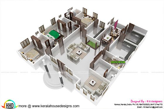 3d floor plan - isometric view