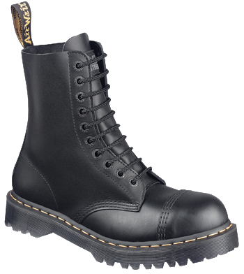 Dr. Martens 8761 10-Eye Steel Toe Boot BLACK