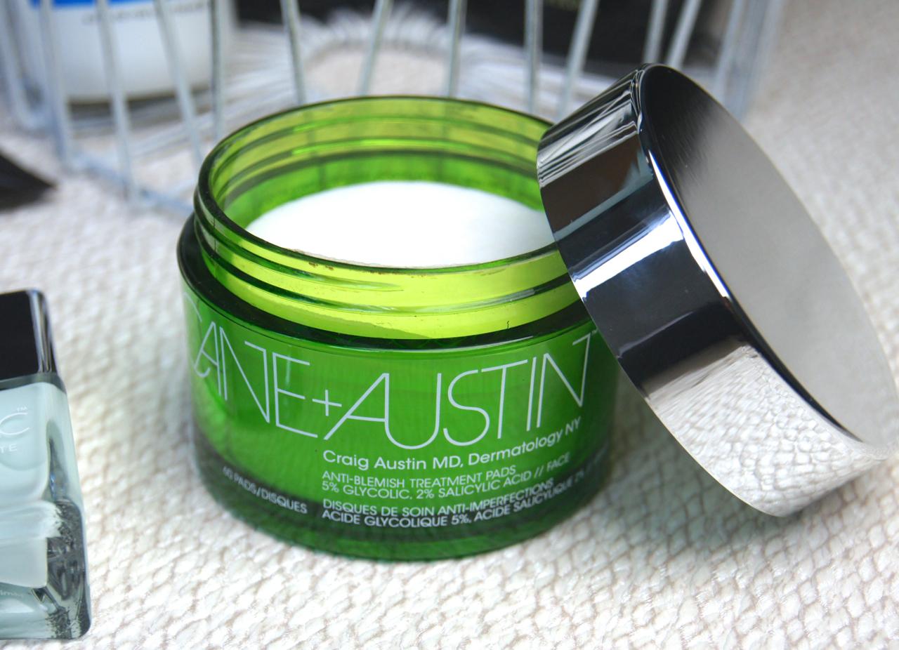 cane + austin anti blemish acne treatments pads review