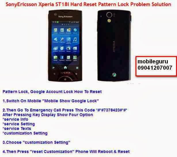 Mobile Solutions Sony Ericsson Xperia ST18i Hard Reset