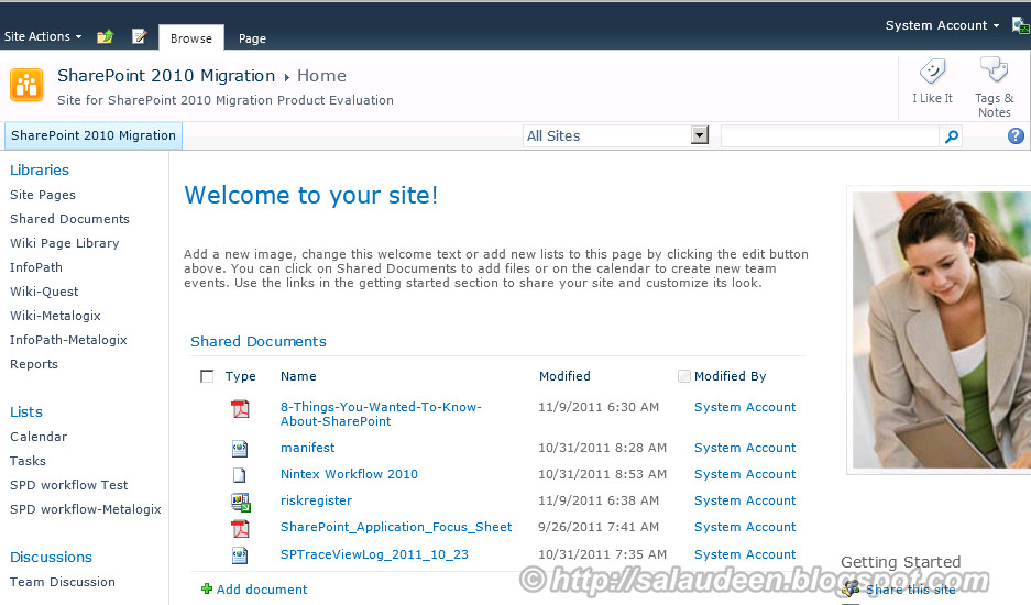 SharePoint 2010 look and feel