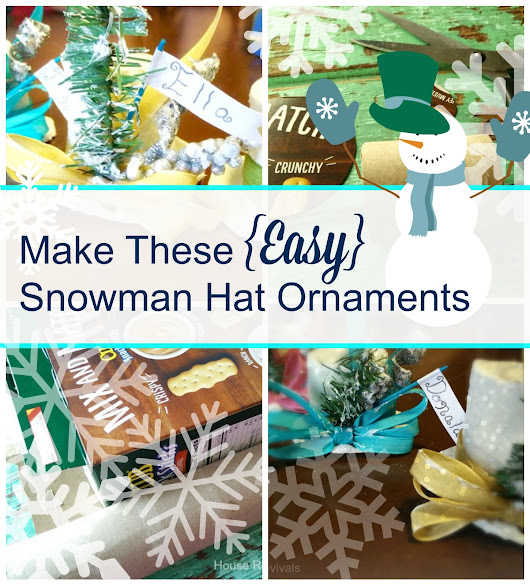 Make These {Easy} Snowman Hat Ornaments!