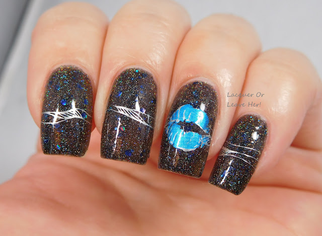 Spellbound Nails Dementor + UberChic Beauty 10-02 & BM02