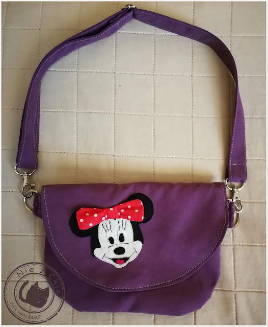 Fioletowa torebka z Myszką Minnie
