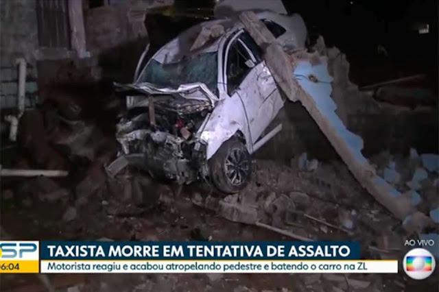 taxista atropela morre - Taxista morre após atropelar homem e bater em muro na zona leste