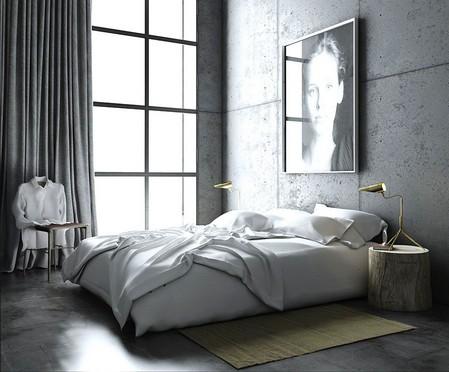graue schlafzimmer design ideen coole farben in der innenarchitektur de haus. Black Bedroom Furniture Sets. Home Design Ideas