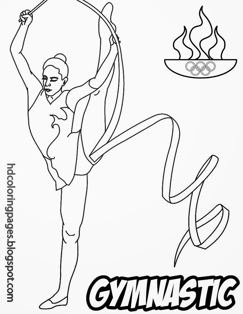 Realistic Gymnastics Coloring Pages Sports