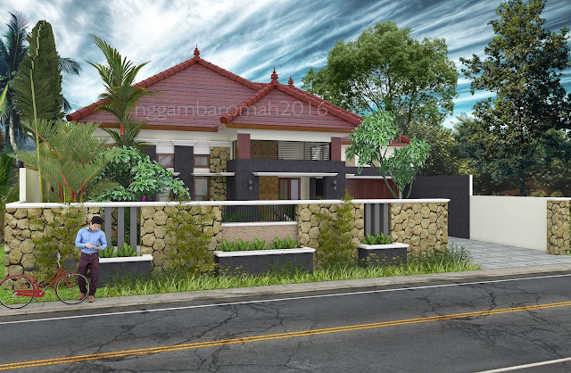 Arsitektur Bali Modern nan Tropis, Rumah Bapak Syafial, Blitar
