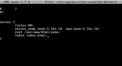 Cara Instalasi dan Setting Web Server Nginx Debian 9 15