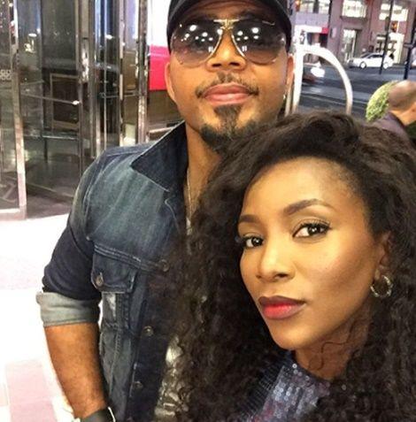 Genevieve Nnaji & Ramsey Nouah Take Cute Selfie