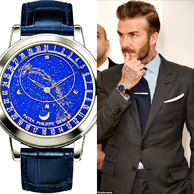 david beckham Patek Philippe wrist watch worsth £200k