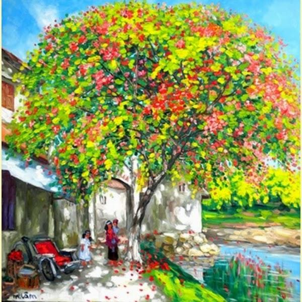 A Porta da Vila - Pinturas do vietnamita Lam Duc Manh