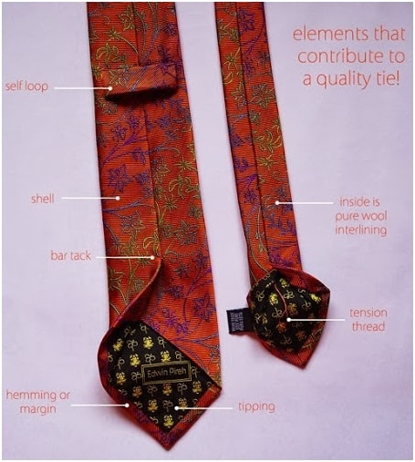 Different part of tie