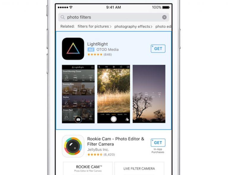 Propagandas na App Store