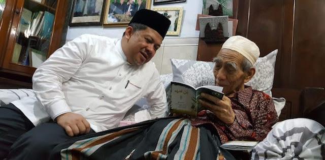 Mbah Moen Nasihati Fahri Hamzah Jaga Agama dan Negara