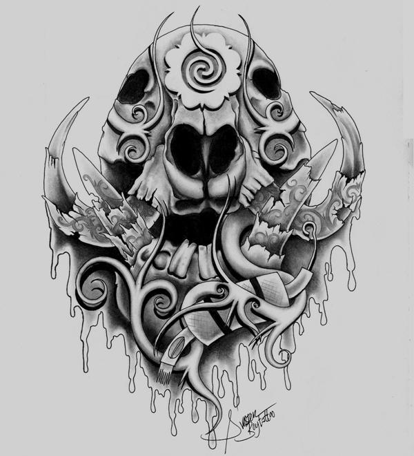 Sylvester Juli Artworks: Wild Boar Skull (Kenarau I ...