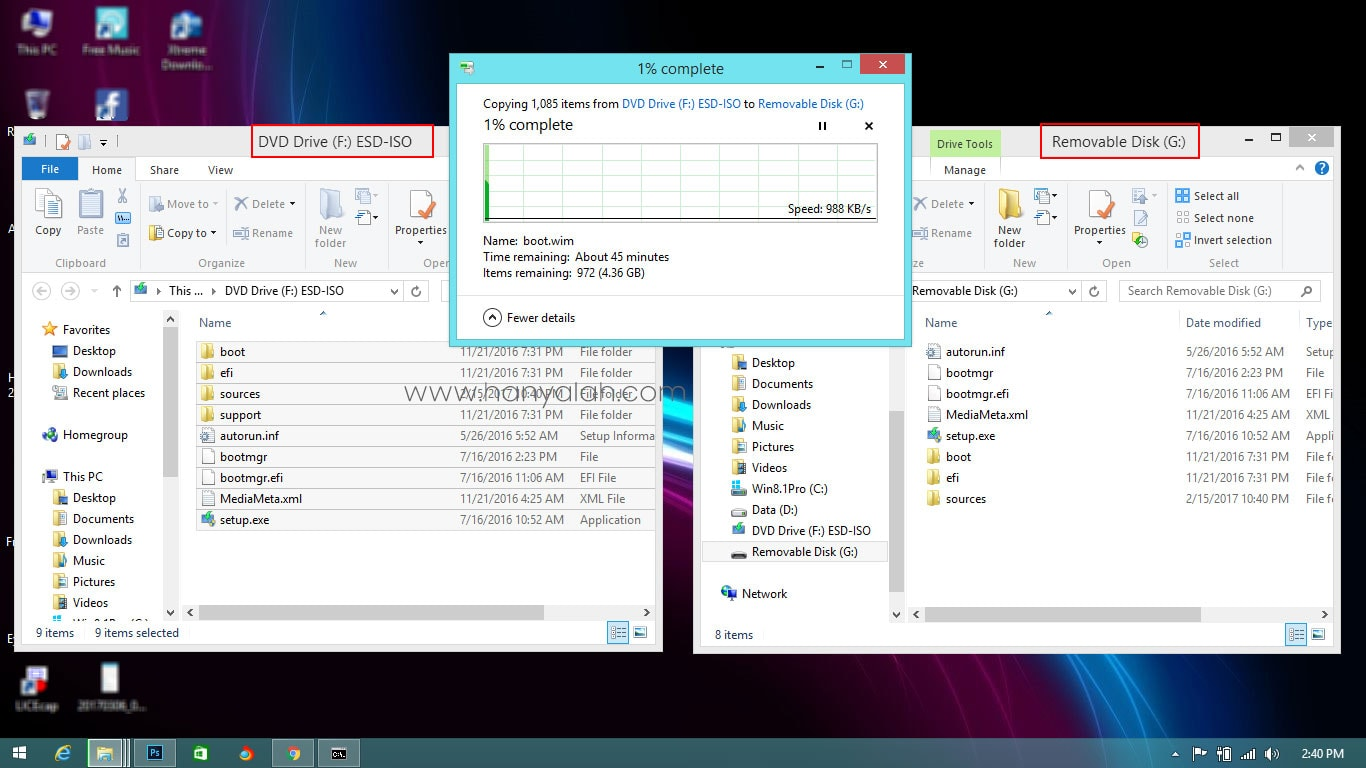 Install Windows 10 via USB Flashdisk