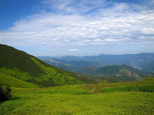Wielka Fatra (słow. Veľká Fatra) widziana z podejścia na Košarisko.