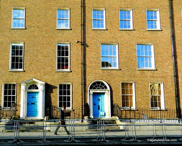 Edifício georgiano no centro de Dublin
