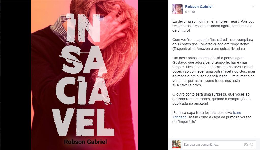 [Novidade] Insaciável de Robson Gabriel