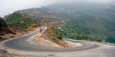 Rohini road in Kurseong
