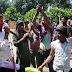Bihar Health Minister Tej Pratap Yadav enjoys playing Holi