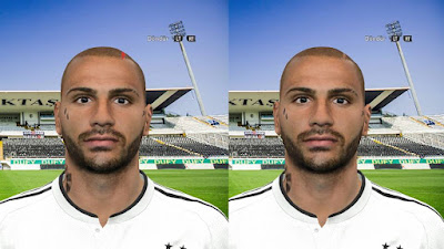 PES 2016 Ricardo Quaresma Face by Facemaker Aykut Salih