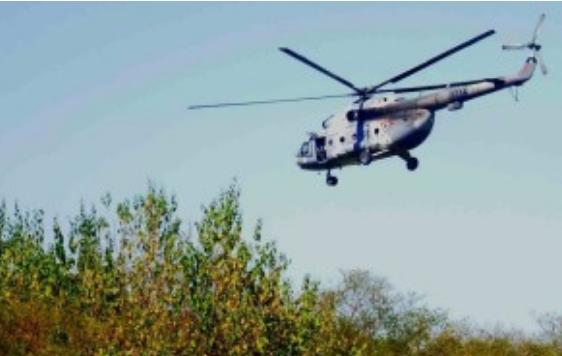 La Marina sitia zona de Guamúchil Sinaloa desde el helicóptero descendieron los Marinos