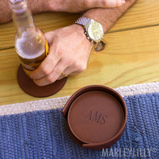 personalized gift idea for him - coaster set