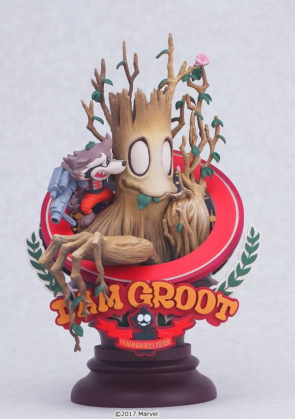 Groot  y Rocket de Guardianes de la Galaxia