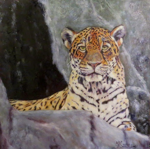 Khensu, jaguar, oils on canvas