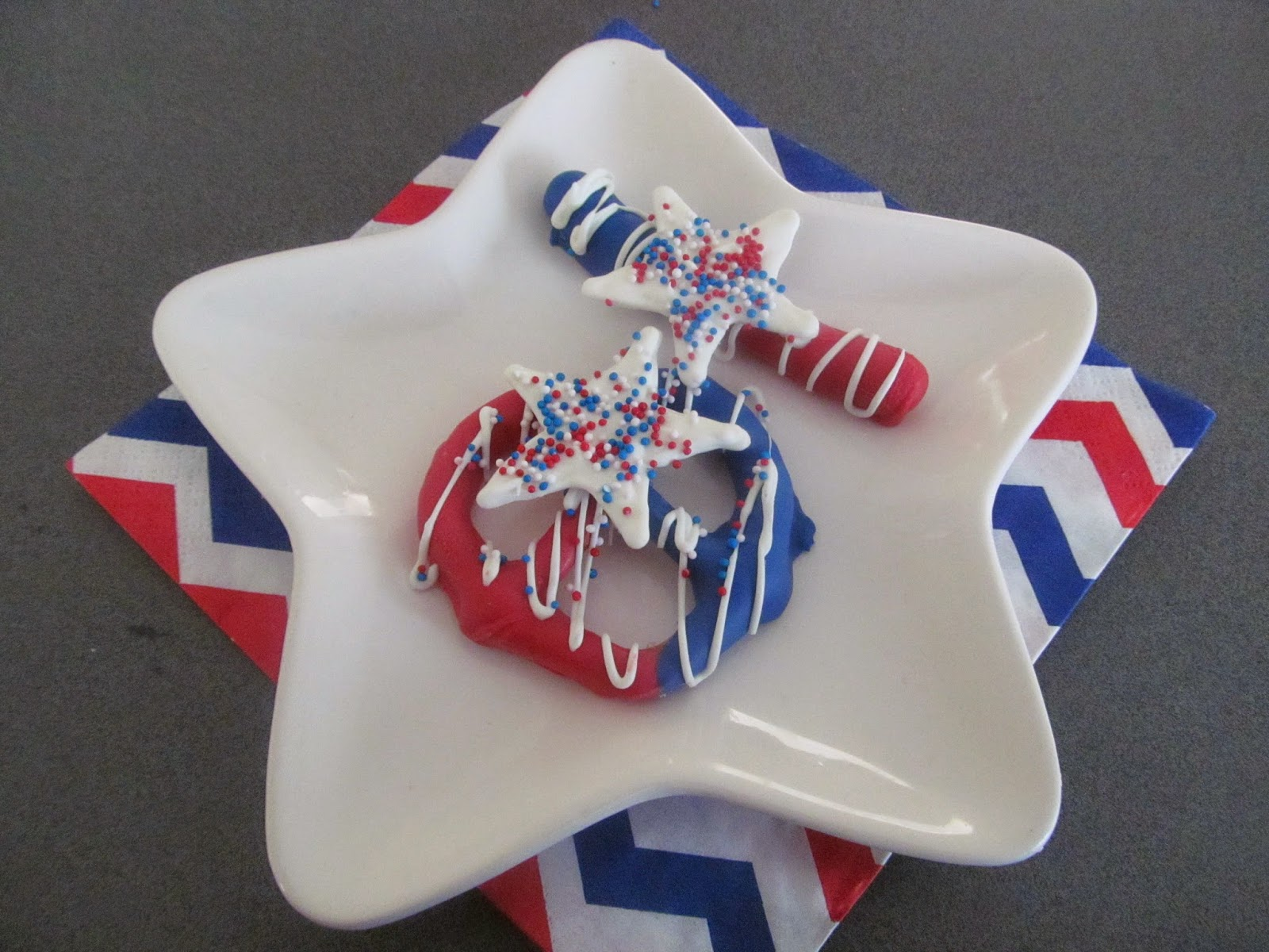 Red white and blue treats