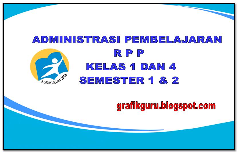 Rpp Kelas 1 Dan 4 Kurikulum 2013 Edisi Revisi Tahun 2016 Contoh Berkas Guru