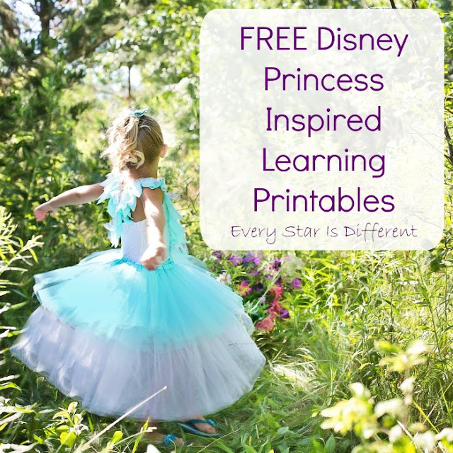 FREE Disney Princess Inspired Learning Printables