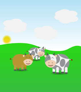 free download vector cow