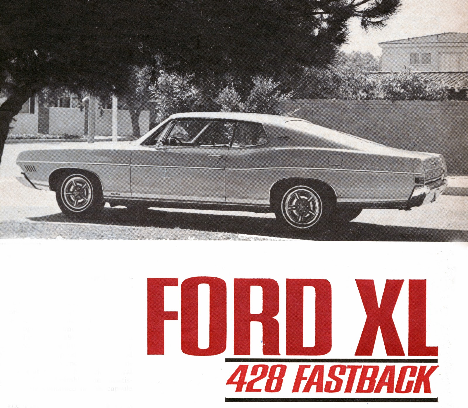 The 1968 1970 Ford Xl Gt Cars Phscollectorcarworld Ltd Convertible Promotional Slick For 428 Fastback