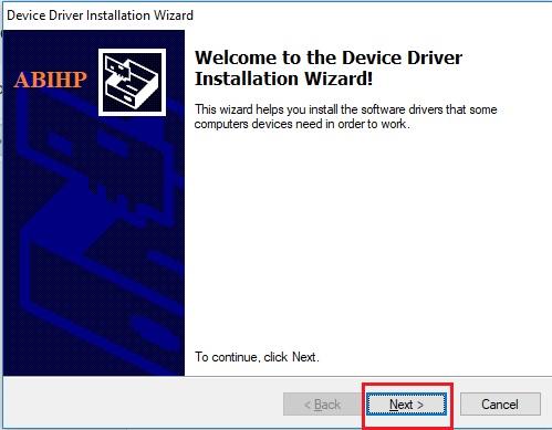 Muncul jendela baru untuk instal device.