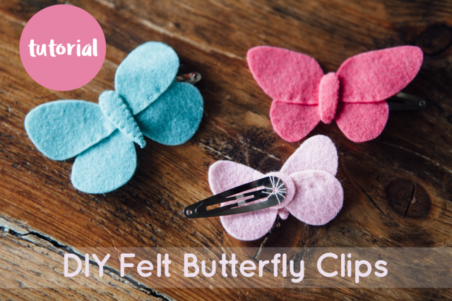 Felt Butterfly Hairclips