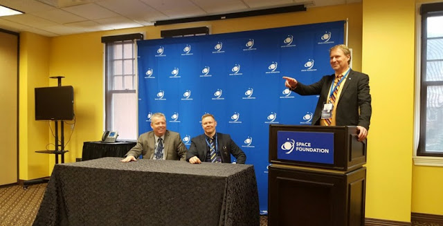SSC unveiled its SSC Infinity service during a press conference at the 32nd Space Symposium in Colorado Springs, Colorado on Apr. 13. Photo Credit: SSC